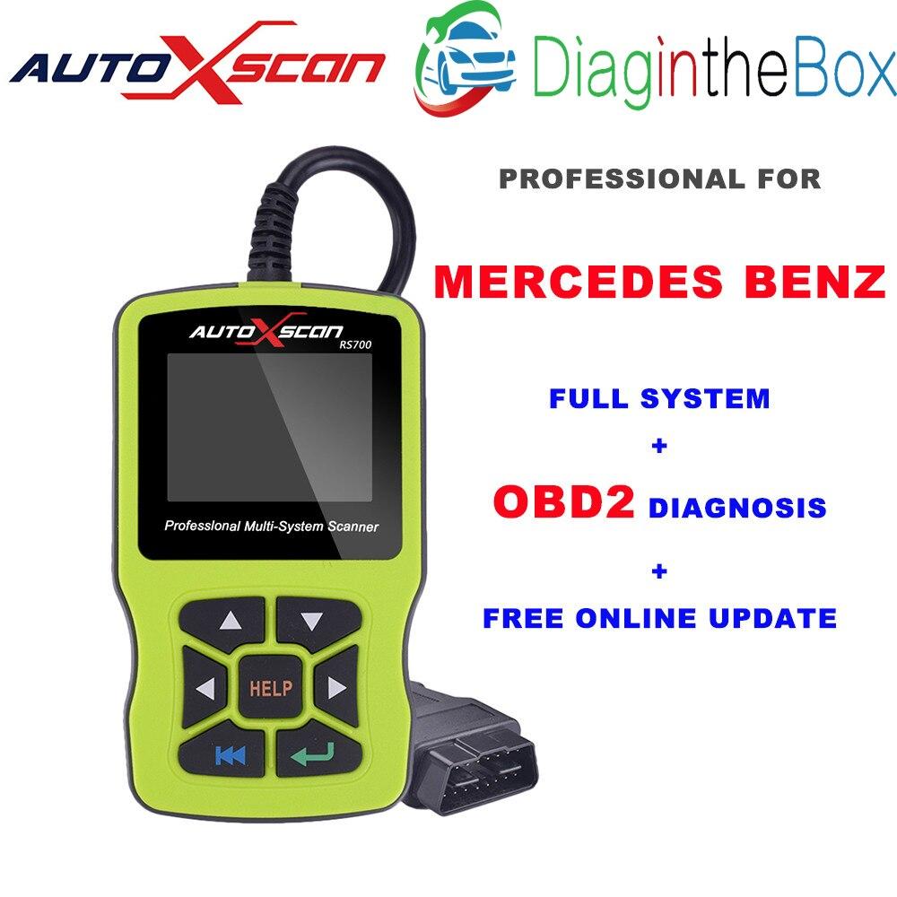 RS700 OBD2 AUTOXSCAN инструмент диагностики товара сканер для MERCEDES OBD2 EOBD Авто BENZ подушка безопасности SRS ABS Двигатель, чем создатель C502