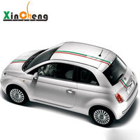 Italian Flag Color Bar Strap Garland Car Stickers Case For FIAT 500 Bravo Palio Car Styling