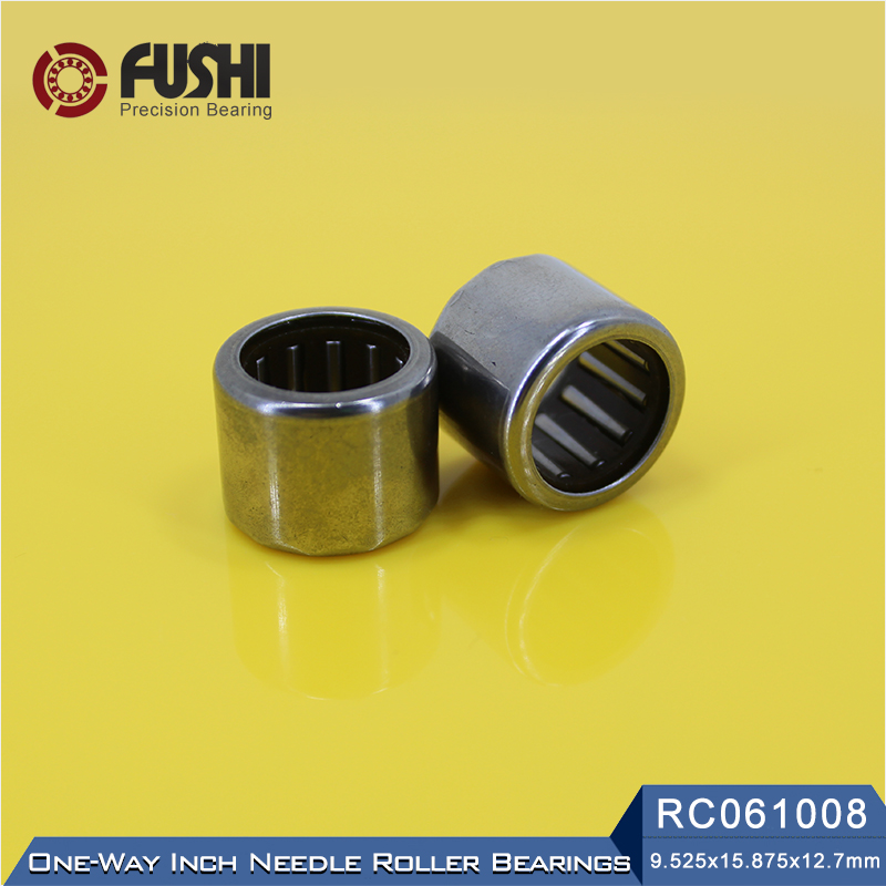 RC061008 Inch Size One Way Drawn Cup Needle Bearing 9.525*15.875*12.7 mm ( 2 Pcs ) Cam Clutches RC 061008 Back Stops Bearings