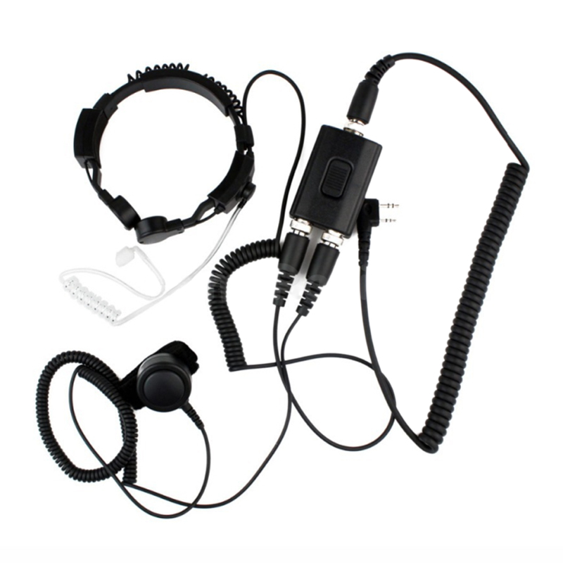3 5mm Adjustable Throat Mic Microphone Covert Acoustic Tube Earpiece