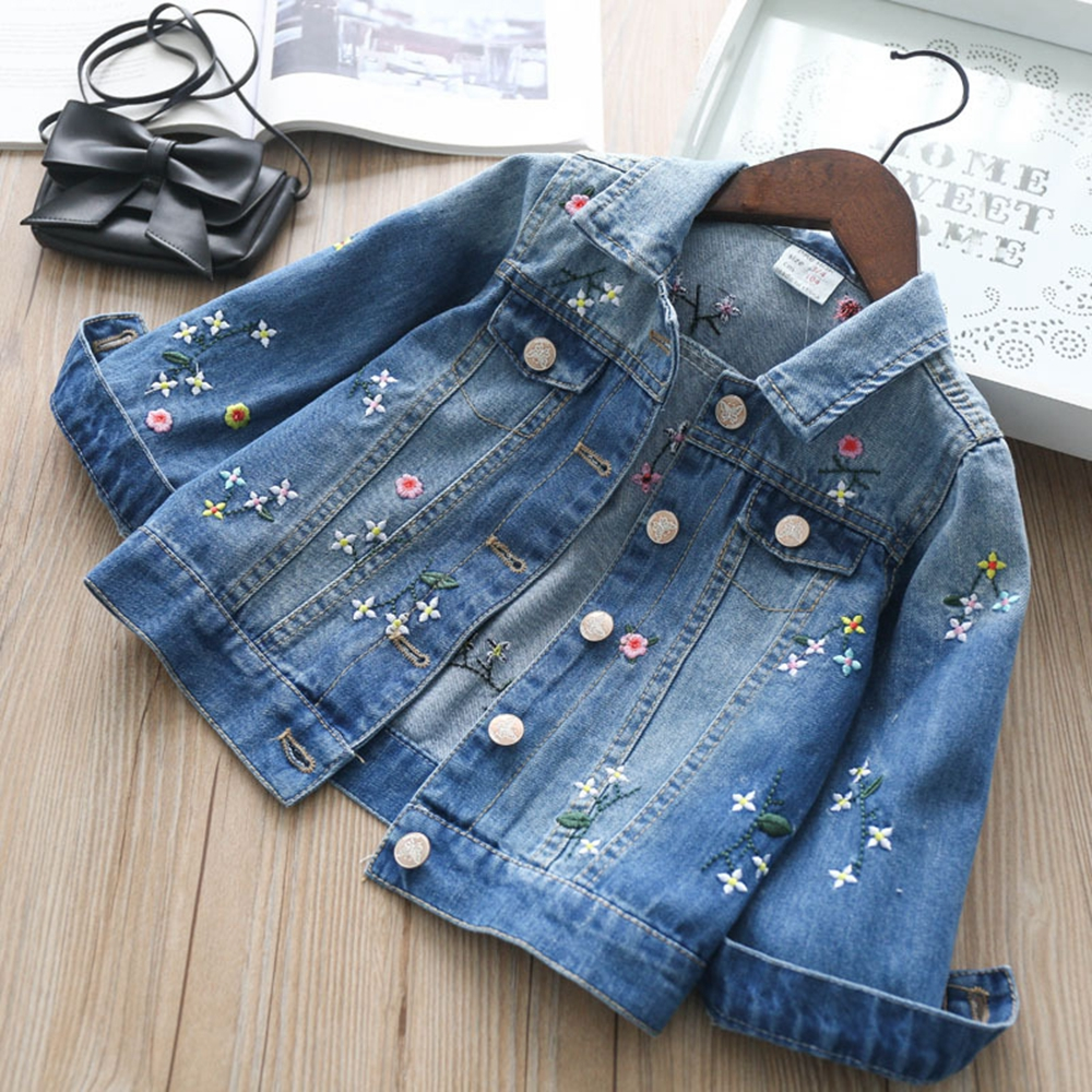 Chumhey High Quality Spring Girls Jackets Stretchy Denim Outerwear Girl Cardigan Jeans Coats  Kids Clothing Children Clothes