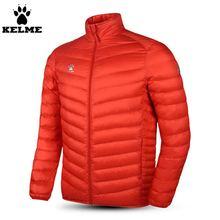 Кельме K15P021 мужчины с длинными рукавами стенд воротник теплый легкий вниз Красная куртка