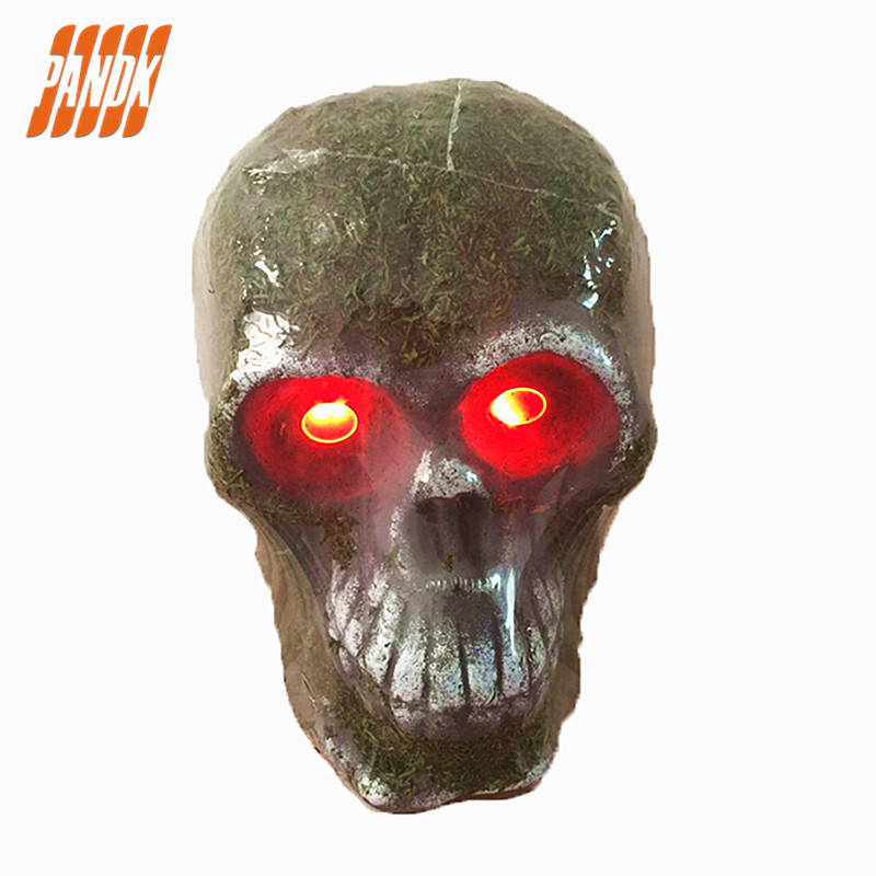 led halloween skull light halloween decorations holiday props halloween props realistic skull haunted house ideas party
