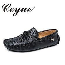 Ceyue новая дизайнерская мужская повседневная обувь летние Туфли без каблуков Модные слипоны обувь для вождения мокасины Обувь кожаная Лоферы Мужская обувь