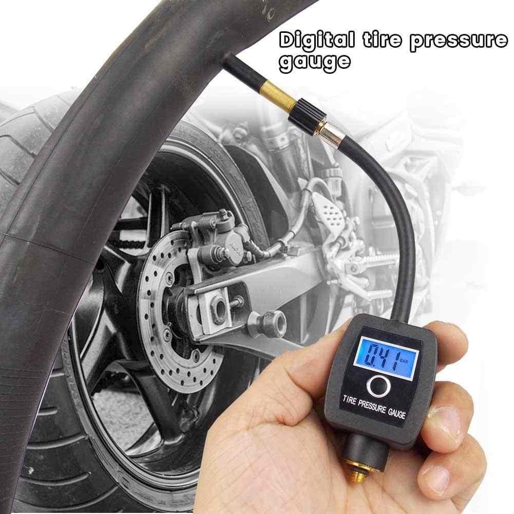 Профессиональный цифровой манометр для шин черный DC2.7-3.3V PSI/BAR/KPA/KG/CM2 портативный автомобильный мотоцикл Высокая точность шин велосипед