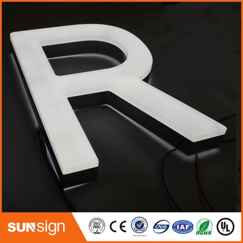 Custom No border Frontlit stainless steel channel letters sign Custom No border Frontlit stainless steel channel letters sign