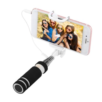 Stainless Steel Colorful 14-60cm Mini Extendable Handheld Selfie Stick Wired Remote Shutter Monopod for All Brands Cell Phone Personal Care Appliance Parts
