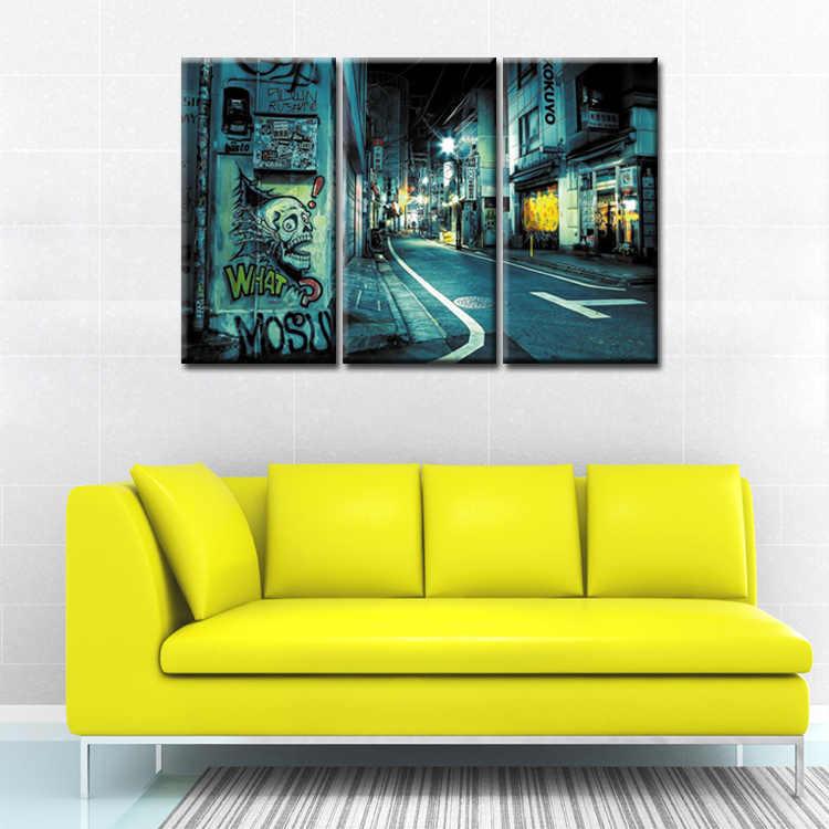 3 шт. холст картины граффити плакаты на стену, изображения для гостиной печать картины Домашний декор холст/абстрактный (38)
