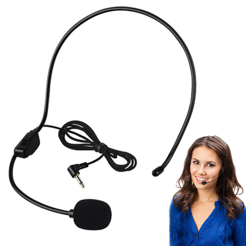 2019 New For Voice Amplifier Portable 3.5MM Wired Microphone Headset Studio Conference Guide Speech Speaker Stand Headphone