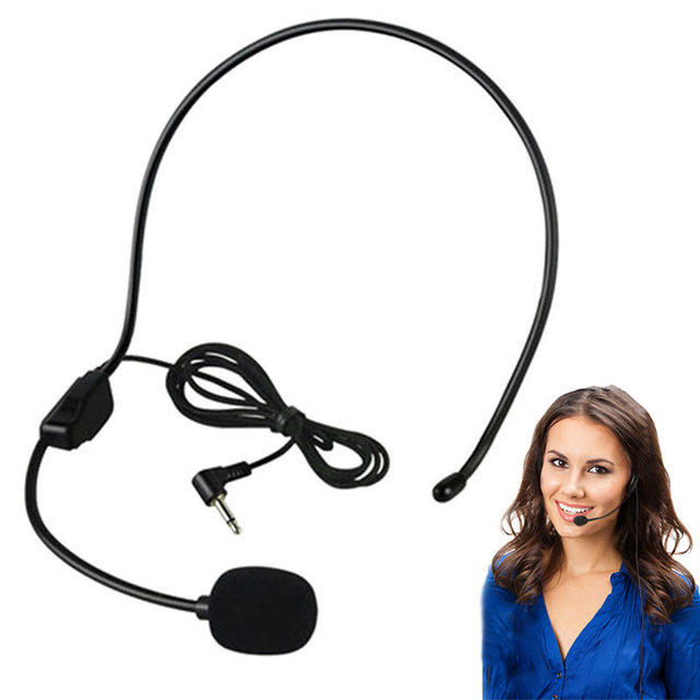 New Portable Guide Speech Speaker Stand Headphone For Voice Amplifier GDeal 3.5MM Wired Microphone Headset Studio Conference