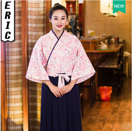 New Unisex Japanese Korea Style Medium Sleeve Chef Cook Uniform Set Waiter Work Wear Restaurant Cook Top+Dress WXR001