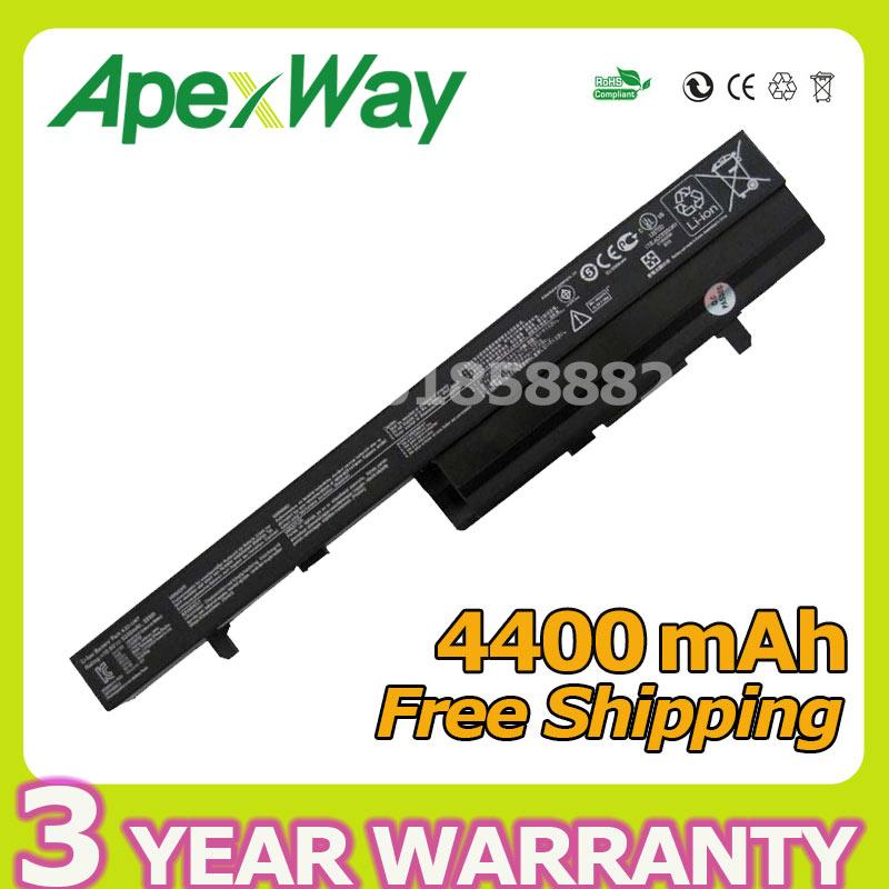 Apexway Battery for Asus A32-U47 A41-U47 A42-U47 Q400 Q400A Q400C Q400V Q400VC R404 R404A R404C R404V R404VC U47 U47A U47C U47V