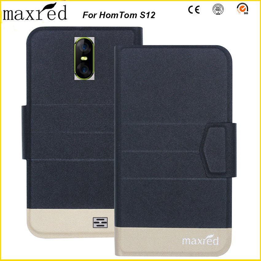 Maxred Original! HomTom S12 Case 5 Colors High Quality Flip Ultra-thin Luxury Leather Protective For Cover