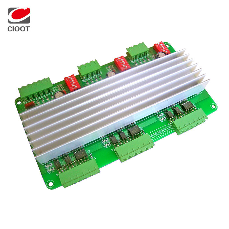 ФОТО Brand New Tb6600 3 Axis Stepper Motor Driver 4A 24V Stepper Motor Controller 42/57 Driver For CNC