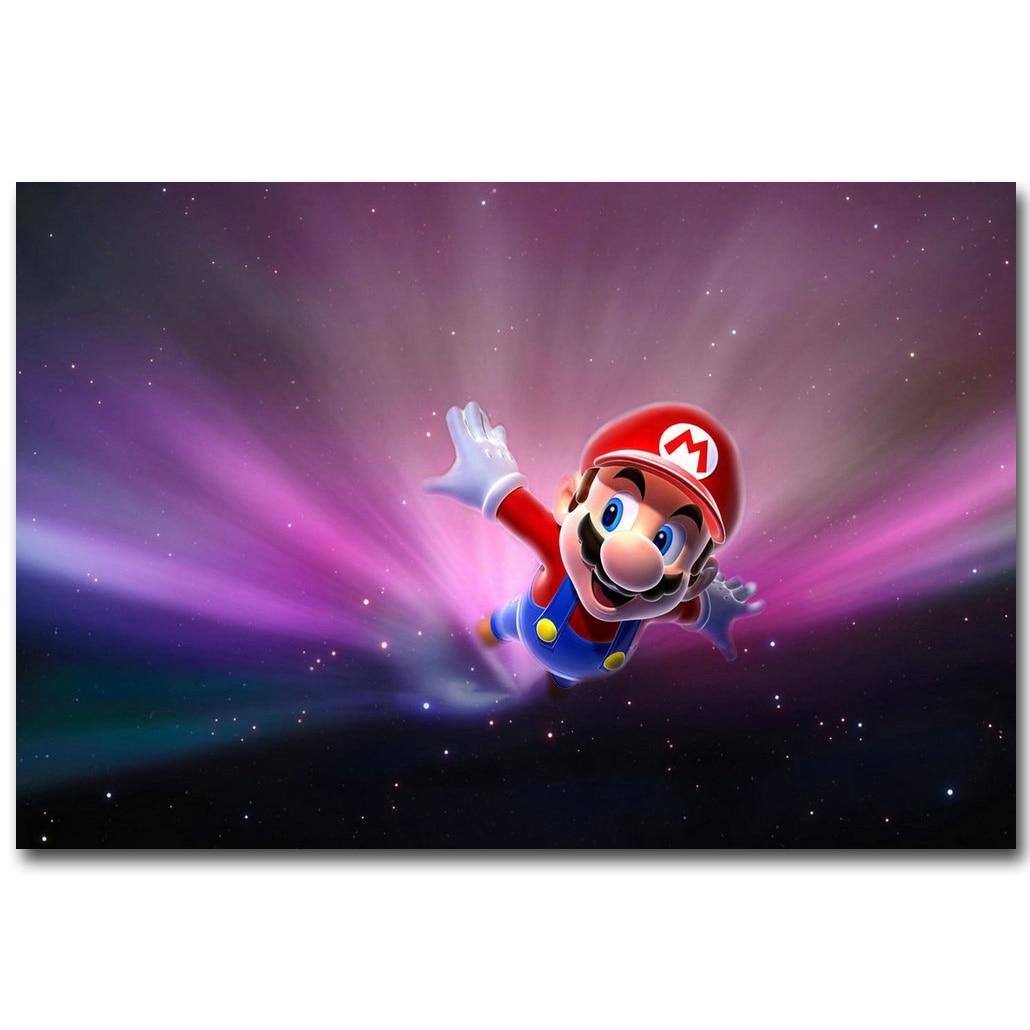 Super Mario Galaxy Art Silk Fabric Poster Print 13x20