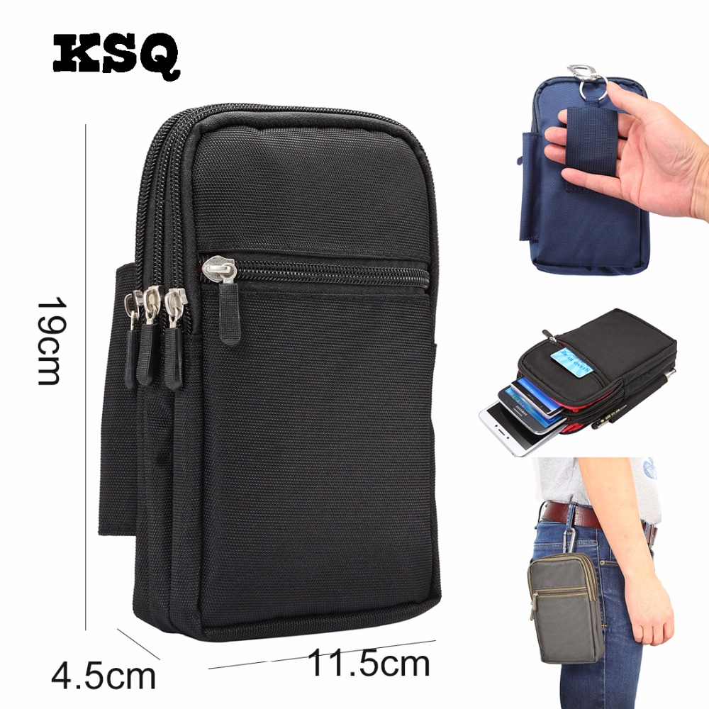 KSQ Super Large Size Phone Bag Universal Outdoor Wallet Bags Case For 7.0 Phone Model Belt Pouch Holster Bag Outdoor Pocket
