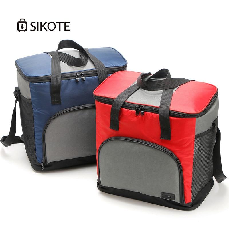 SIKOTE 43L Оксфорд обед сумки диагональ Пикник сумки высокого Ёмкость на 4 персоны сумка холодной лед держать изоляции еда