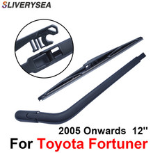 SLIVERYSEA Rear Windscreen Wiper and Arm For Toyota Fortuner 2005 Onwards 12'' 4 door SUV High Quality Iso9000 Natural Rubber sliverysea rear windscreen wiper and arm for honda airwave 2009 onwards 14 5 door wagon high quality iso9000 natural rubber