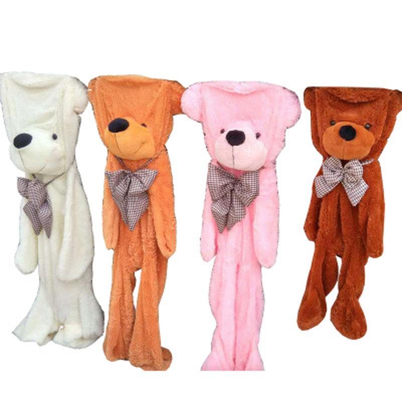 Lovely Giant Teddy Bear Plush Toy Soft Animal Bear Skin With Zipper Kids Bed Sleeping Doll for Baby Children Birthday Gift