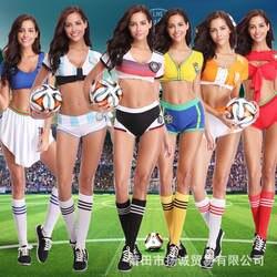 Россия Футбол Детские костюмы женские чирлидинга бар Сексуальные автомобильные костюмы Чирлидинг костюмы