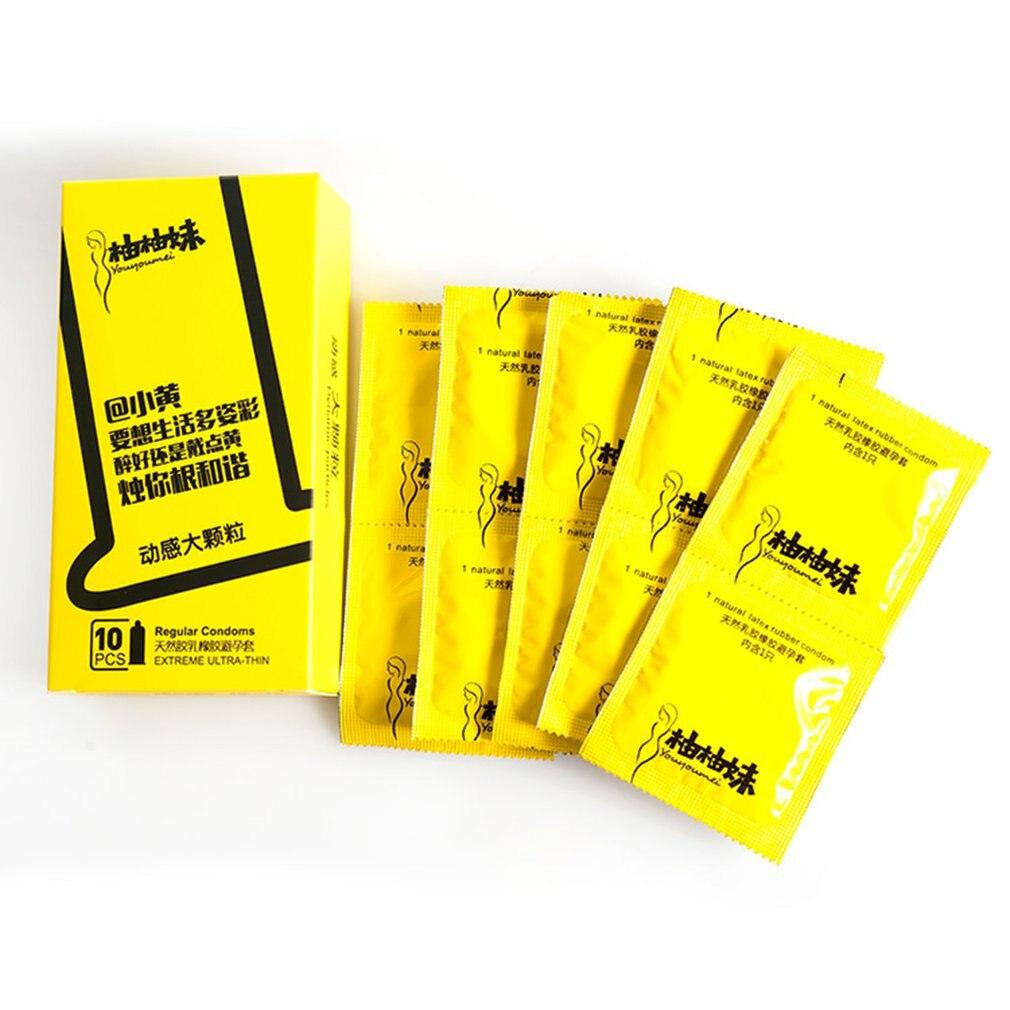 Safer Sex Ausdrucksvoll 10 Teile/schachtel Premium Natürliche Latex Kondome Dot Partikel Kondom Männlichen Penis Hülse Sicherer Sex Gummi Kondom Empfängnisverhütung Werkzeuge