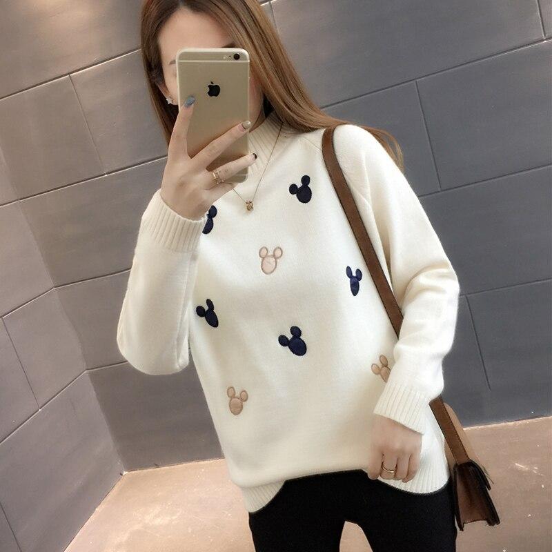 Demi-taille col épaissi chandail chanvre femme automne et hiver 2019 nouveau coréen court pull femmes vêtements à la mode marée