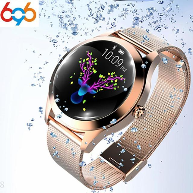 696 KW10 Fashion Smart Watch Women Lovely Bracelet Heart Rate Monitor Sleep Monitoring Smartwatch connect IOS Android PK S3 band 10