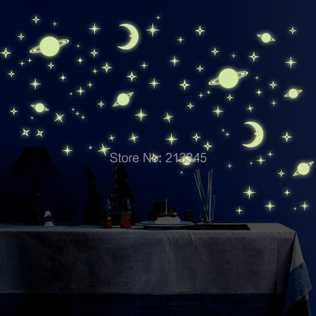 [Fundecor] DIY Universe Stars Glow In The Dark Wall Sticker For Kids Rooms  Baby