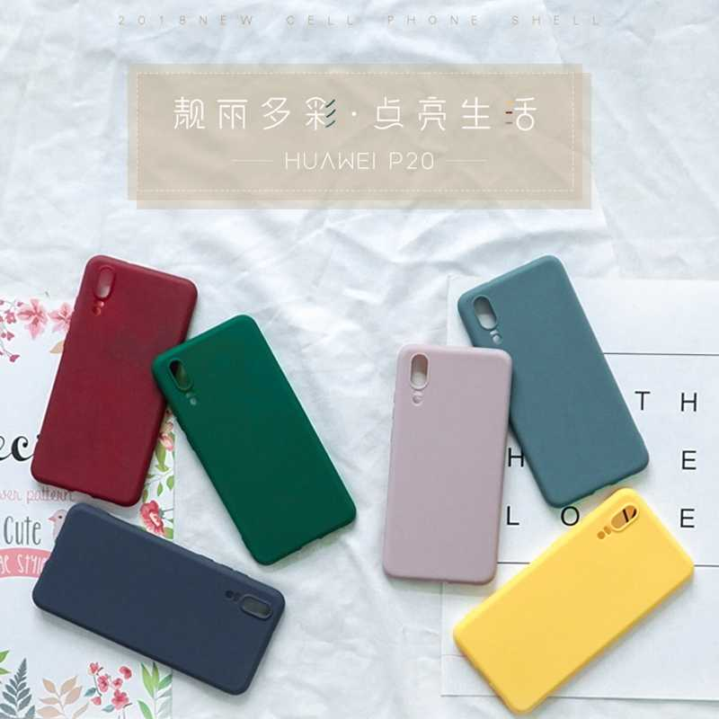 Plain Solid Color Back Case For Huawei P20 Mate 20 Pro Honor 9 10 Nova 2s 3 Mate10 Pro Soft Silicone Matte Phone Case Capa Cover