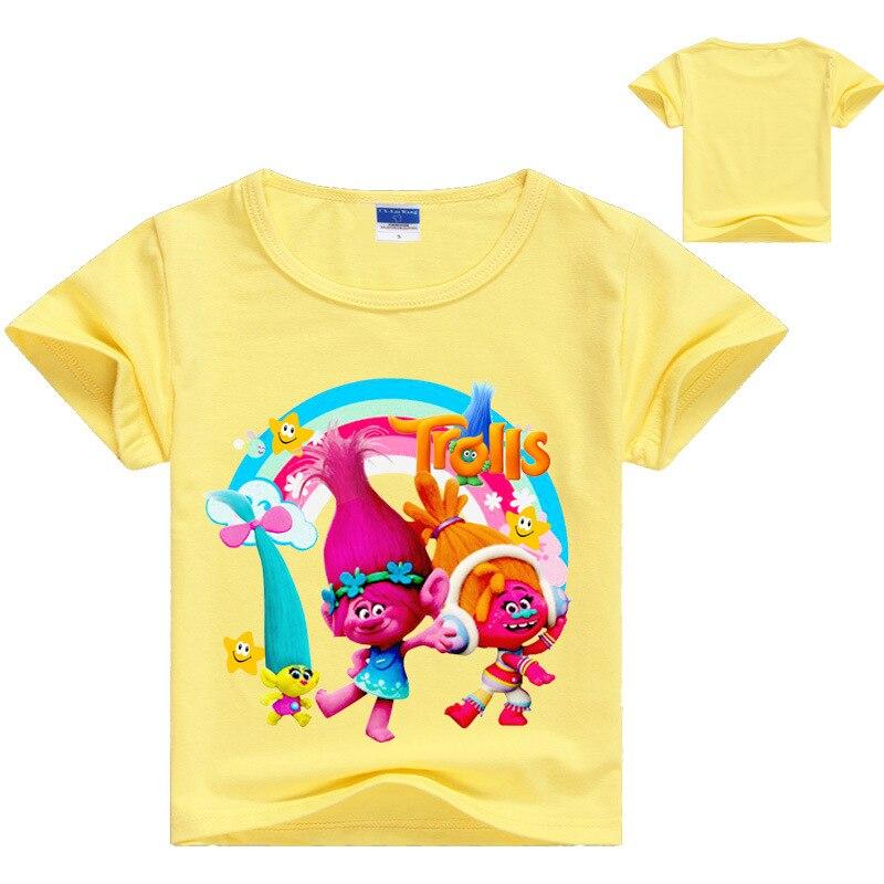 4ba6968a22870 2 16Years Nununu 2018 Summer Dreamworks Trolls Poppy T Shirts for Girls T  shirt Baby Boy Tshirt Short Sleeves Fashioin Top 1121-in T-Shirts from  Mother ...
