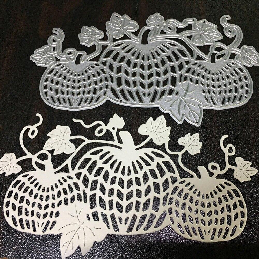 Swovo Pumpkin Shape Metal Cutting Dies Stencil DIY Greeting Card ...