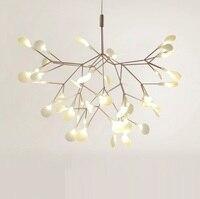 Растущая светодио дный лампа в листьях из поликарбоната, вращающийся стержень, ультра тонкая современная люстра