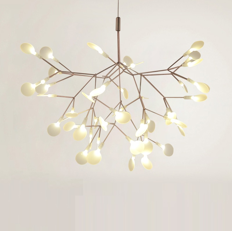 Trees Inspired LED Light in Acrylic Leaves,  Modern Chandelier coloring of trees