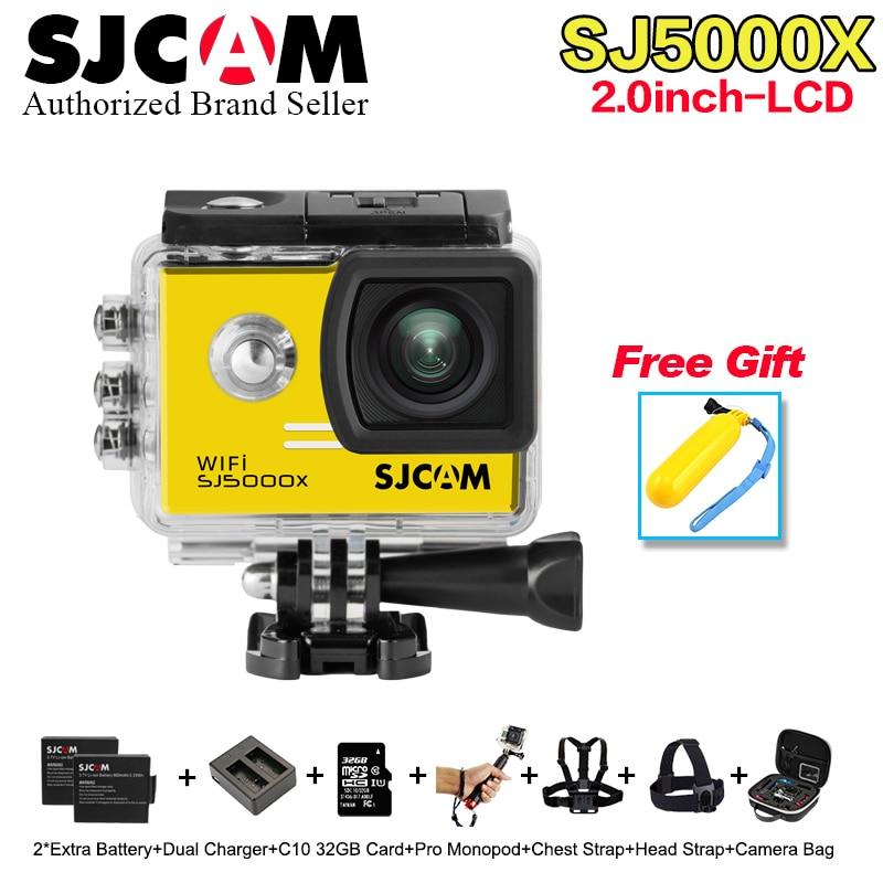 Promotion ! 2.0 4K Original SJCAM Sj5000 wif i SJ5000X Elite WiFi NTK96660 Gyro Sports Action Camera Sj 5000X Cam DVR ...