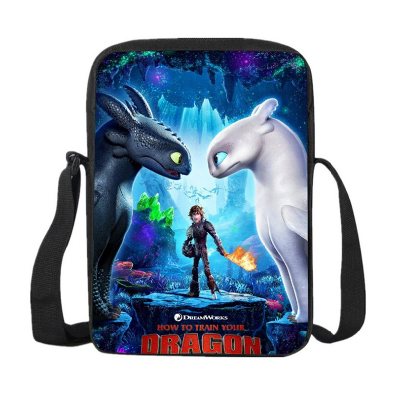 How to Train Your Dragon 3 Toothless 3D printed childrens messenger bag light Fury Night Fury Toys For Children action figureHow to Train Your Dragon 3 Toothless 3D printed childrens messenger bag light Fury Night Fury Toys For Children action figure