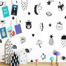 Cute Tribal Animal Wall Sticker Wall Decal Sticker Home Decor For Home Decor Living Room Bedroom Home Party Decor Wallpaper цена в Москве и Питере
