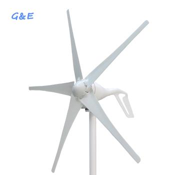 Małe 3 lub 5 ostrza dla opcji 300w 400w 12v 24v DC wiatr generator z turbiną tanie i dobre opinie GE-300S3 GE-400S3 Generator energii wiatru Bez Podstawy Montażowej 300W 400W 12v 24v 2 5m s 11m s 1 25m 1 3m Nylon fiber