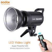 Godox SL 60W видео светодиодный свет лампы белый вариант непрерывной 5600 k 60 W Bowens строб вспышки для фотостудии Запись