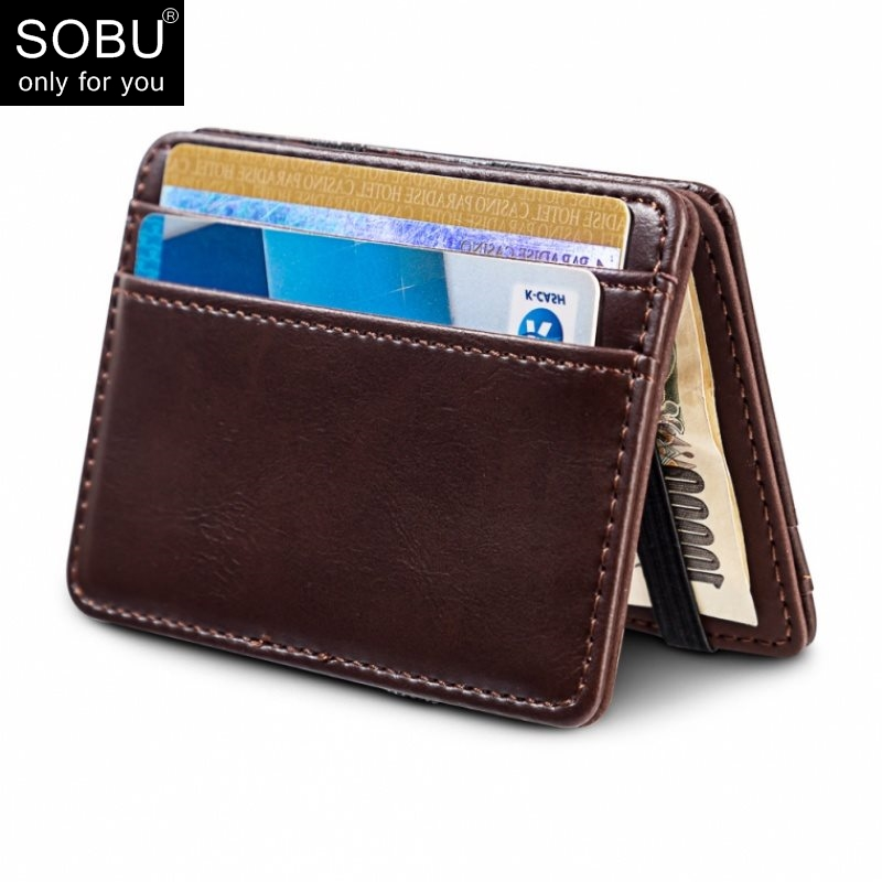 2019 New Arrival High Quality Leather Magic Wallets Ultra Thin Mini Wallet Men's Small Wallet Pu Leather Wallets