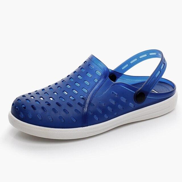 c869c6c6113 Summer Lady Couple Hole Shoe Beach Shoes Trend Ventilation Women s Casual  Garden Girls Clogs Big Size Sandals Breathable