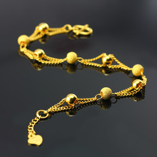 charm bracelets & bangle for women pure 24k gold filled ball beads bracelet fashion bracelet,women / girls jewelry