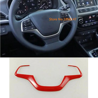 Car body sticker cover styling Steering wheel Interior Kit switch Trim lamp frame 1pcs for Hyundai Solaris Accent 2017 2018 2019
