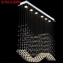 Lüks LED Kristal Kolye Işıkları Modern Kristal Kolye Işık Dikdörtgen Asılı Kapalı Ev için Lambalar Fikstür Lamba Merkezi Mağaza