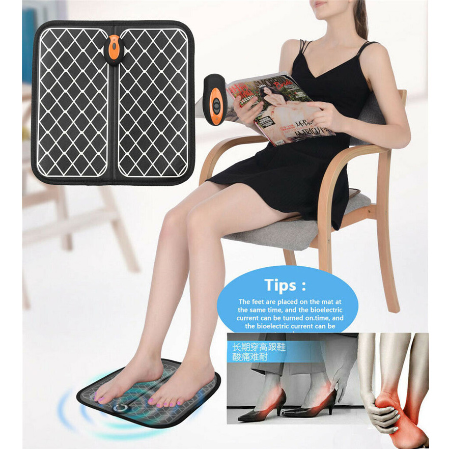 Remote Control Shiatsu Kneading New Relaxing Leg Massager Foot Pad Vibration Rolling Massager USB Powered Foot Messager Dropship