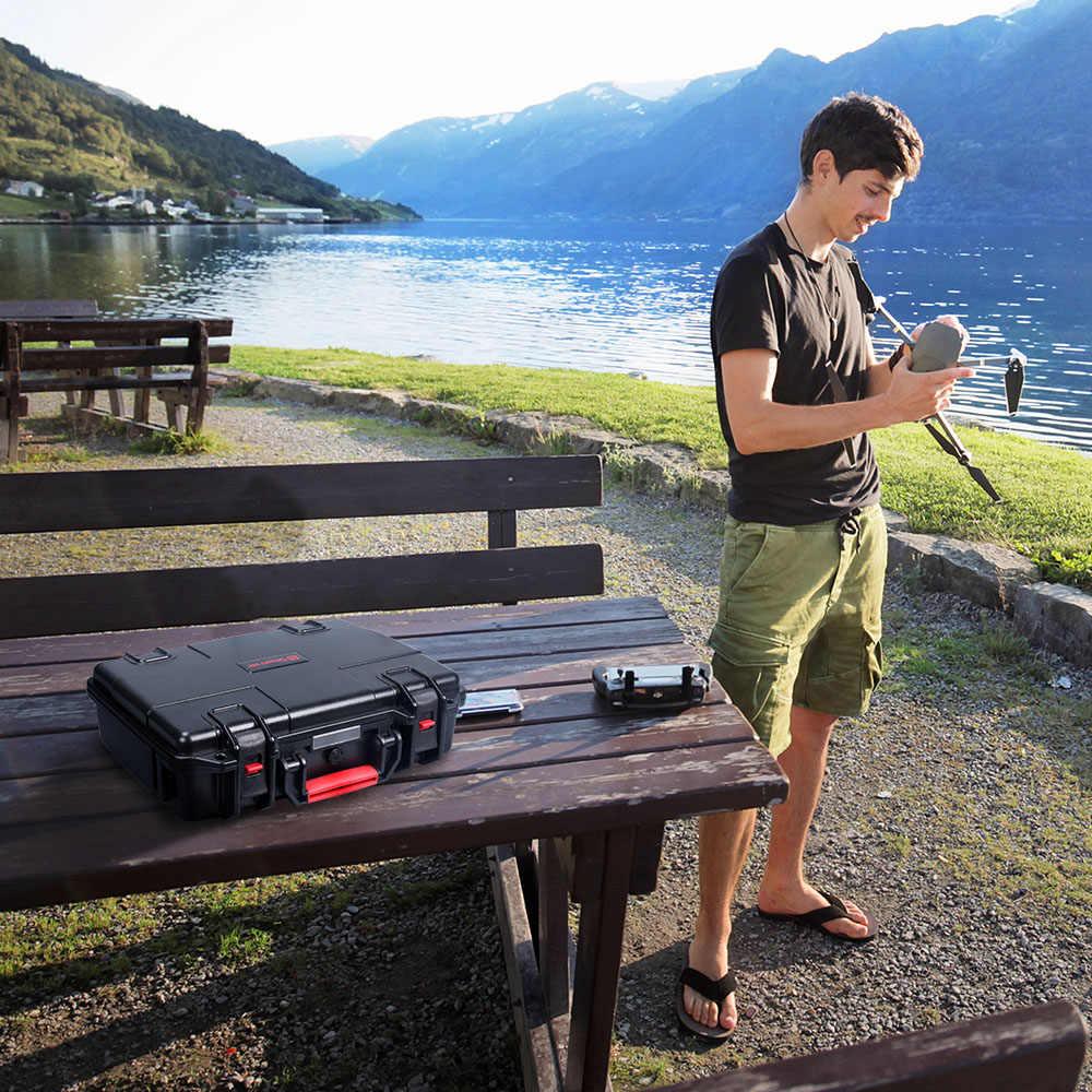 Smatree الصلب مقاوم للماء حمل ل DJI Mavic 2 برو و DJI جهاز تحكم ذكي ل DJI Mavic 2 التكبير ABS