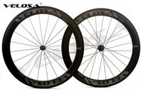 Velosa CARRERA 60 700C bicicleta de carretera ruedas de carbono, 60mm clincher/tubular, DT 240 S hubs Sapim cx ray súper ligero aero ruedas