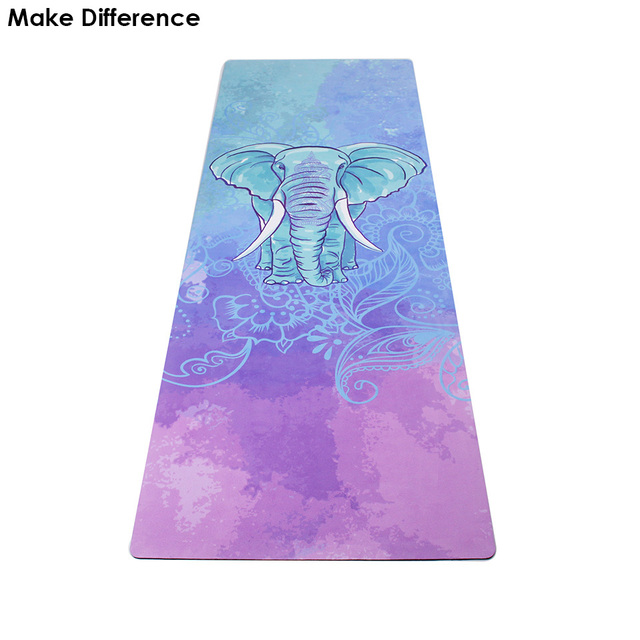 Make Difference Wise Elephant Printed Outdoor Yoga Pilates