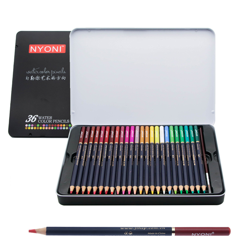 Watercolor Pencils Art Iron Box Colored Pencil 24 36 48 72Colors Lapis De Cor Professional Pencils For Drawing School Supplies
