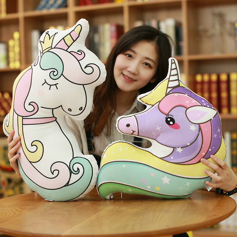 50cm Cute Unicorn Horse Staffed Animal Horse Kids Love Doll Fashion Kawaii Gift for Girls Children