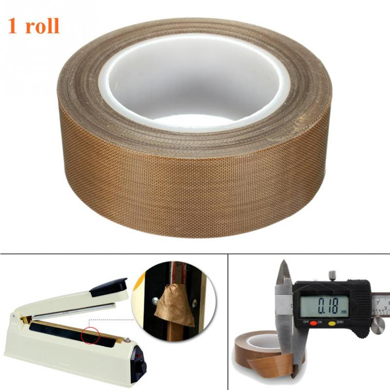 10m Long 0.18mm Thick PTFE Teflon High Temperature Heat-Resistant Adhesive Tape General Practical Insulation Safe Tape